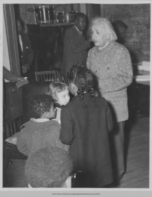 Einstein with the children of Lincoln University Faculty, May 3rd 1946