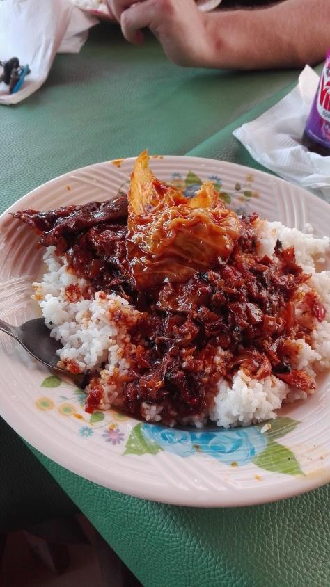 rice & palm oil stew @ Kadie Kadie restaurant